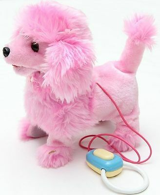 New Pink Doggy Remote Control Walking Puppy Dog - Kids Girls Boys Toys Xmas Gift