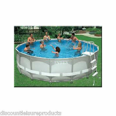 """Intex 16ft x 48"""" Ultra Frame Above Ground Swimming Pool With Filter Pump #28322"""
