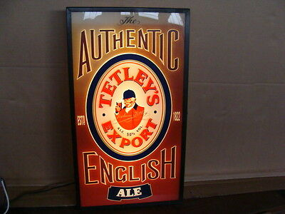 Insegna Birra Tetleys Export English Beer Old Sign Bar Birreria Pub Epoca