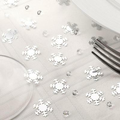Shimmering Christmas Snowflake Table Confetti & Diamonds Decorations