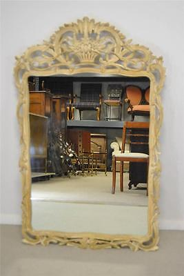 Antique Carved Wood Italian Mirror By Decorative Crafts