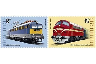 Hungary 2013 Locomotives Complete Set of 2 Stamps MNH