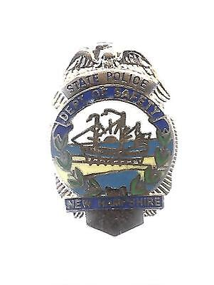 LAPEL HAT MINI BADGE STATE POLICE DEPT OF SAFETY NEW HAMPSHIRE