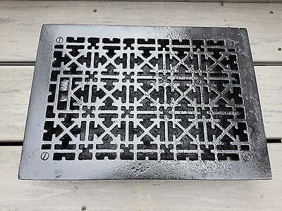 "VERY OLD VICTORIAN Cast Iron Floor Grille Heat Grate Register 13"" long"