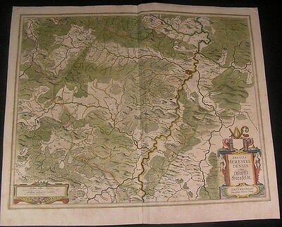 Rhineland Palatinate West Germany 1644 antique Hondius folio hand color map