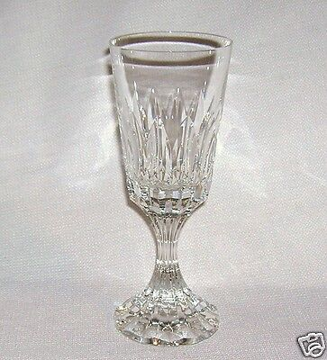 """Retired Baccarat D'Assas Single Marked Crystal Water Stem 7 3/4"""" Glass MINT"""