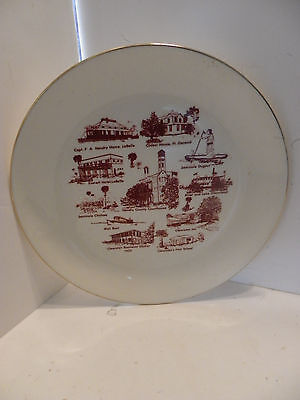 Vintage Collector Hendry County Florida Gold Trim Plate