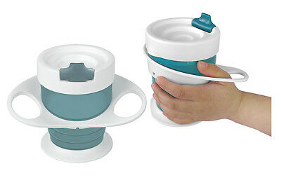 Brother Max 2 Pack Easy Hold Baby Sippy Cups with Handles 4 Months + Teal