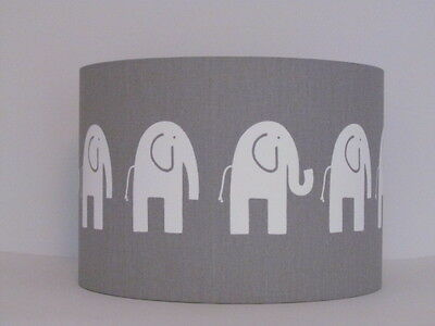 New Handmade Grey White Elephant Nursery Lampshade Lightshade Baby Childrens