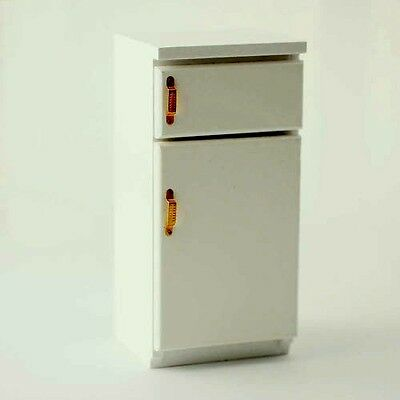 Fridge Freezer With Brass Handles,  Dolls House Miniature Kitchen Appliances
