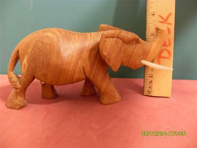WOOD HAND CARVED FIGURINE ELEPHANT MADE IN KENYA DECORATIVE PIECE