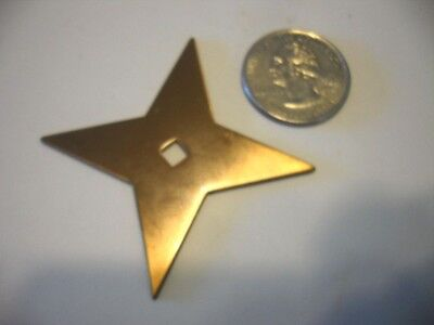 VTG NOS Satin BRONZE / COPPER STAR BACKPLATES FOR cabinet drawer KNOBS Art Deco