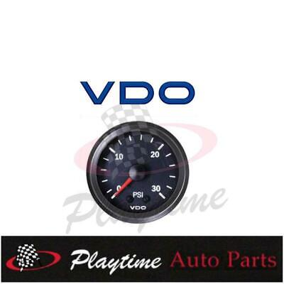 VDO 52mm 30 PSI BOOST GAUGE TURBO SUPERCHARGED 4WD HOLDEN FORD TOYOTA NISSAN
