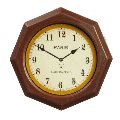 Wall Clock, Dolls House Miniatures, Ornamental accessories 1/12 scale
