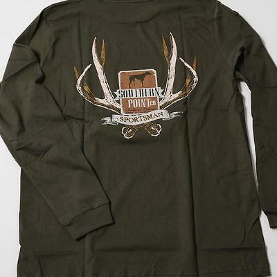 Sportsman Antlers Long Sleeve Tee w/ front pocket by Southern Point Co.