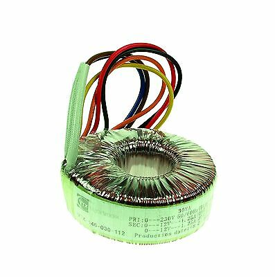 2x12V 50VA Toroidal Transformer Dual Primary Secondary Windings Thermal Fuse UL