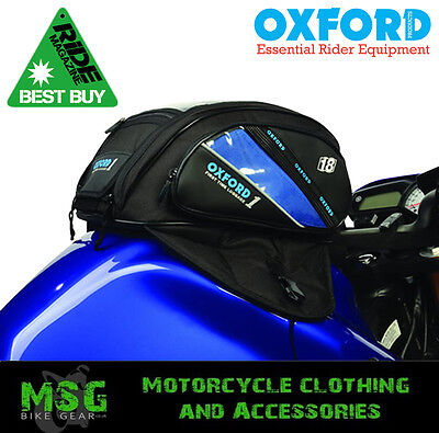 Oxford1st Time Motorbike Motorcycle Tank Bag-Magnetic 18 Ltrs **RiDE BEST BUY**