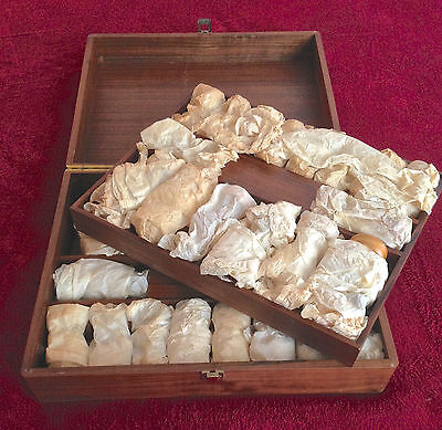 ANRI MONTSALVAT CHESS SET VINTAGE 1960s WITH OLIVE WOOD BOARD AND CASE -RARE