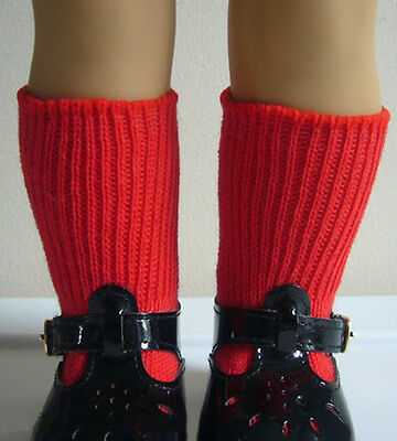 "Red Cotton Socks made for American Girl Emily Doll Clothes & Other 18"" Dolls"