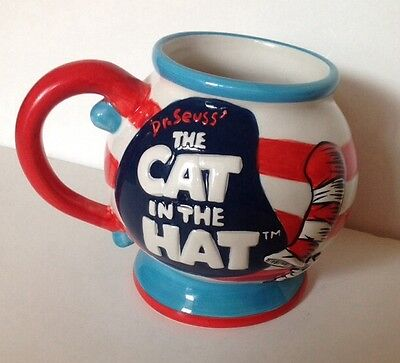 DR. SEUSS' THE CAT IN THE HAT OFFICIAL MOVIE COFFEE MUG 2003 DreamWorks