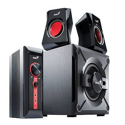 Genius 2.1 Pc /laptop / Tv Gaming Speakers Surround Sound Subwoofer Sw-G2.1 1250