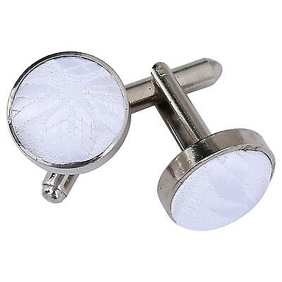 New Dqt Passion Silver Plated Cufflinks - White
