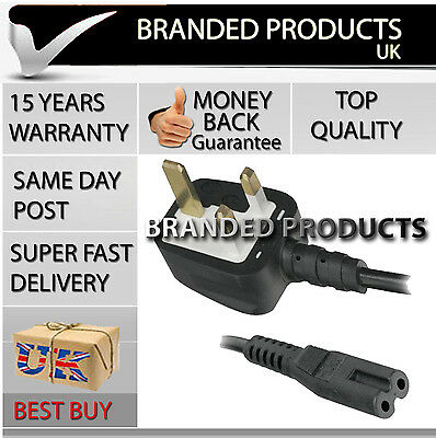 New UK 2 Pin Mains / Power Cord Cable Lead for Brother Sewing Embroidery Machine