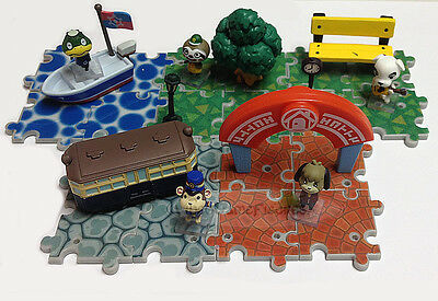 Tomy Animal Crossing New Leaf  Game Mini Figure Playset Collection Set of 5