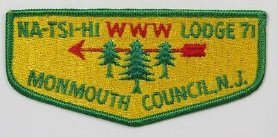 OA Lodge 71 Na-Tsi-Hi S1 Flap; DGR thin trees; MVE: GRN [C532]