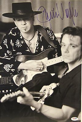 JIMMIE VAUGHAN w/ Stevie Ray Vaughan Signed 12x18 Photo PSA/DNA #W15361