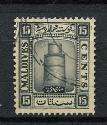 Maldive Islands 1933 SG#17A 15c Black Used #A78111