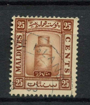Maldive Islands 1933 SG#18A 25c Brown Used #A78130