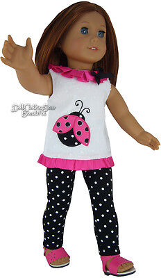 "Ladybug Tunic & Leggings made for 18"" American Girl Doll Clothes"