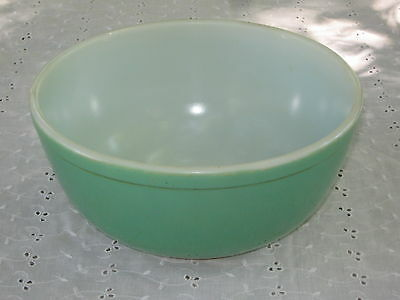 1940's Green Pyrex Bowl Old No Number Mark (403 is size) Nice #DH41
