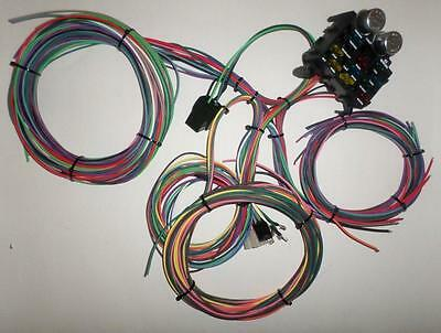 12 Circuit EZ Wiring Harness CHEVY Mopar FORD Hotrods UNIVERSAL X-long Wires!!
