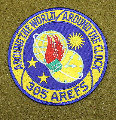 31012) Military Patch USAF 305th AREFS Air Refueling Squadron Air Force Insignia