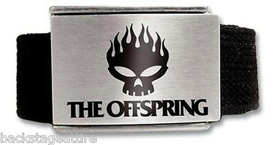 HALF PRICE SALE!! The Offspring Fire Skull Web Belt w/Enamel Inlay Brand New!