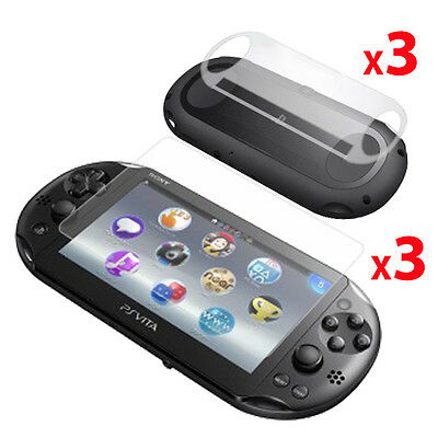 3x FRONT &  BACK Screen Protectors for Sony Playstation PS VITA SLIM 2014 (2000)