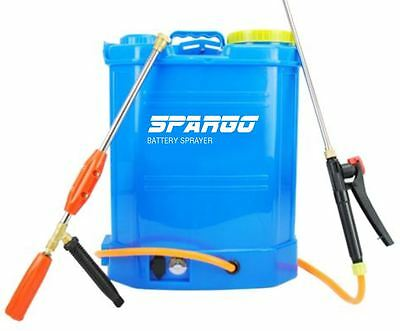 Spargo Sprayer Battery Operated 16L Litre Pump Garden Weed Killer Knapsack