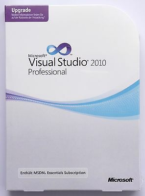 Microsoft Visual Studio 2010 Professional - Update - Deutsch - NEU -