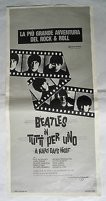 THE BEATLES/A HARD DAY'S NIGHT/ /italy poster