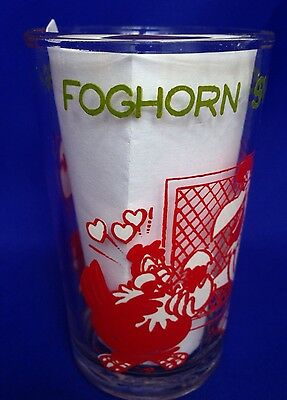 Foghorn Leghorn Jelly Jar Glass 1974 Switches Henery's Egg Bugs Bunny on Bottom