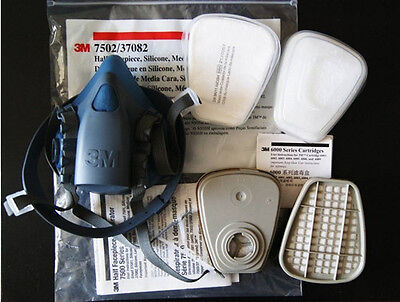 Free Shipping 3M 7502 7 Piece Suite Respirator Painting Spraying Face Gas Mask