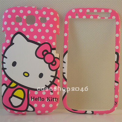 Pink Bow White Dot hello kitty fullbody case for Samsung galaxy S3 III i9300