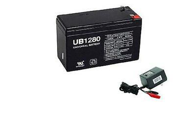 UPG 12V 8AH Replaces Battery for Mojo Mama Jama Duck Decoy 12v 1Amp Charger