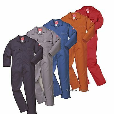 Portwest BizWeld Flame Resistant Coverall Boilersuit Welding XS - 5XL BIZ1