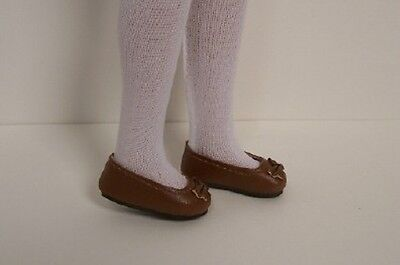 """BROWN SlipOn Flats w/Satin Bow  Doll Shoes For 12"""" Marley Wentworth DEBs"""