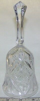 """7"""" Crystal Pressed Glass Bell"""