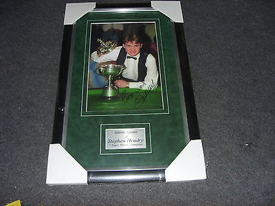 STEPHEN HENDRY 7 TIMES WORLD CHAMPION Signed Montage AFTAL