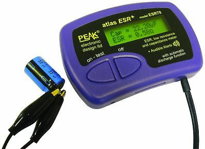 Atlas ESR70 Capacitance & Equivalent Series Resistance Meter Audible Alerts